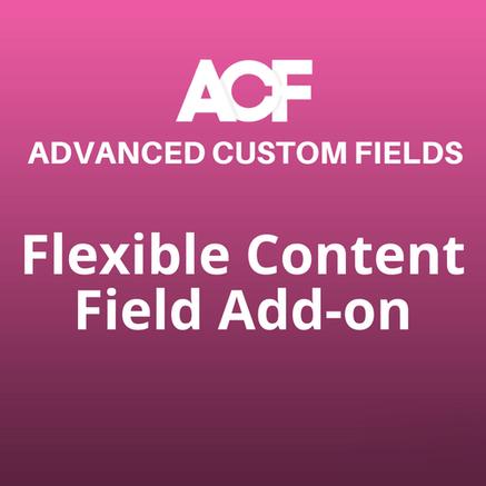 flexible content field addon acf