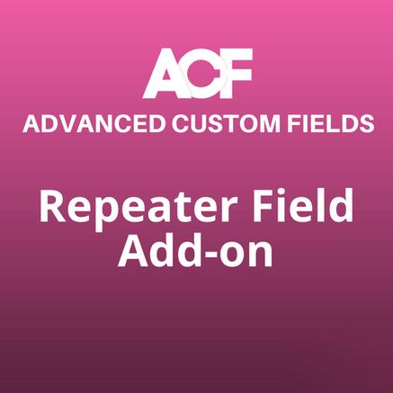 repeater field addon acf