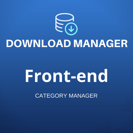 Front-end Category Manager