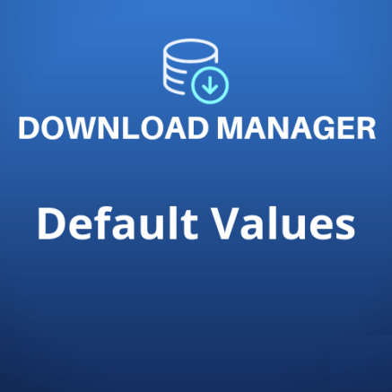 WPDM Default Values