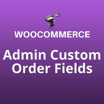 admin custom order fields