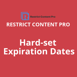 Hard set Expiration Dates