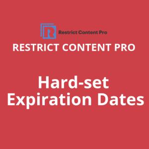 Hard set Expiration Dates