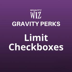 Limit Checkboxes
