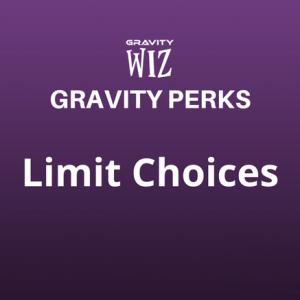 Limit Choices